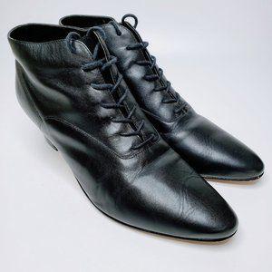 Ellemenno Bixby Black Pointed Toe Ankle Booties 10
